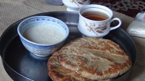 Typical Ladakhi breakfast