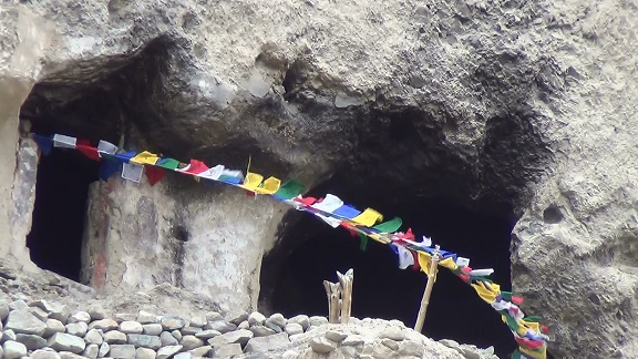 Entrance to the Temple of Tara (left), with YOUR prayer flags flying!